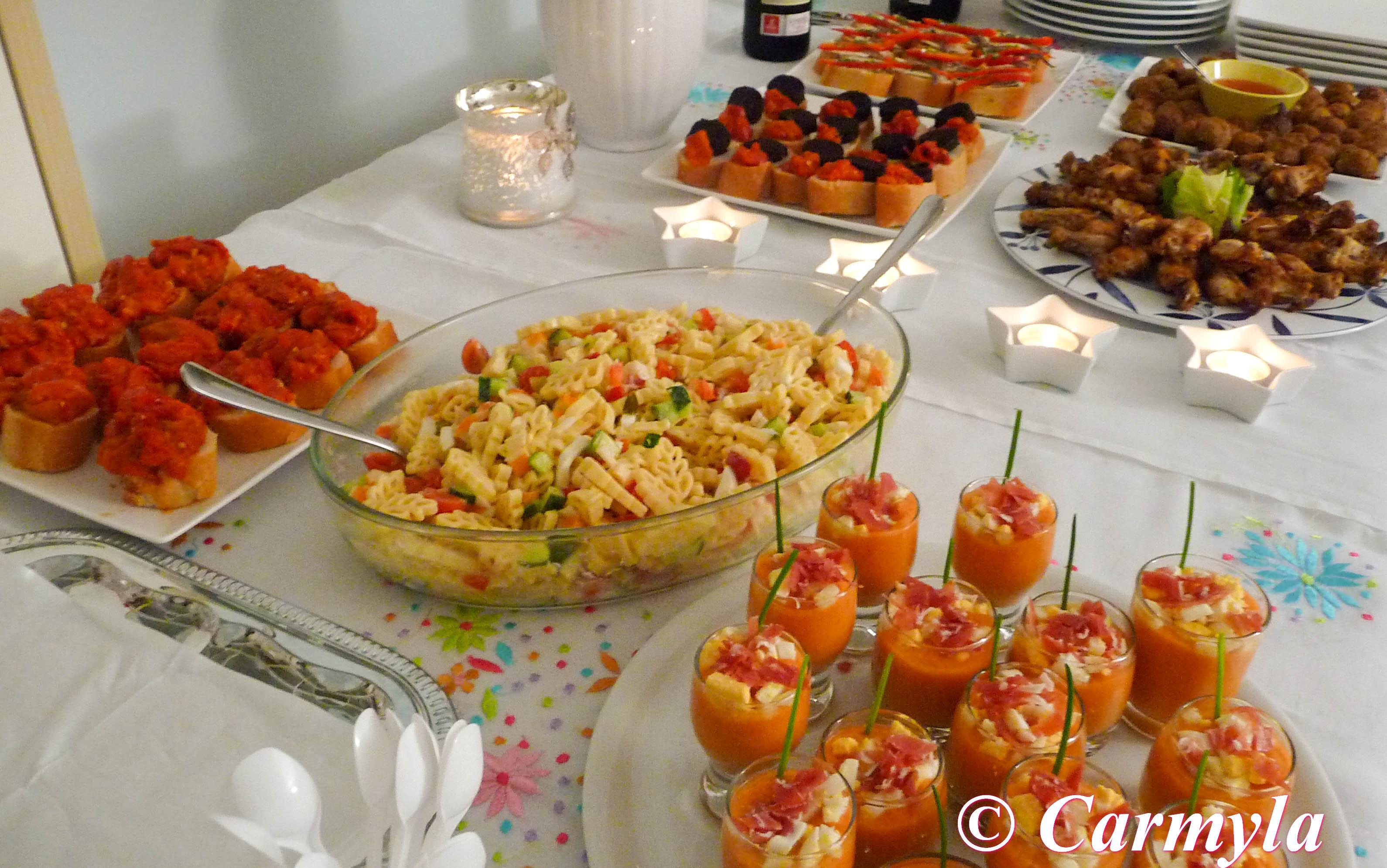 ideas comida para cumpleaos