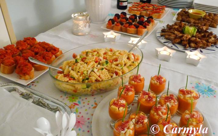 Buffet de cumplea os carmyla for Tapas frias para fiestas
