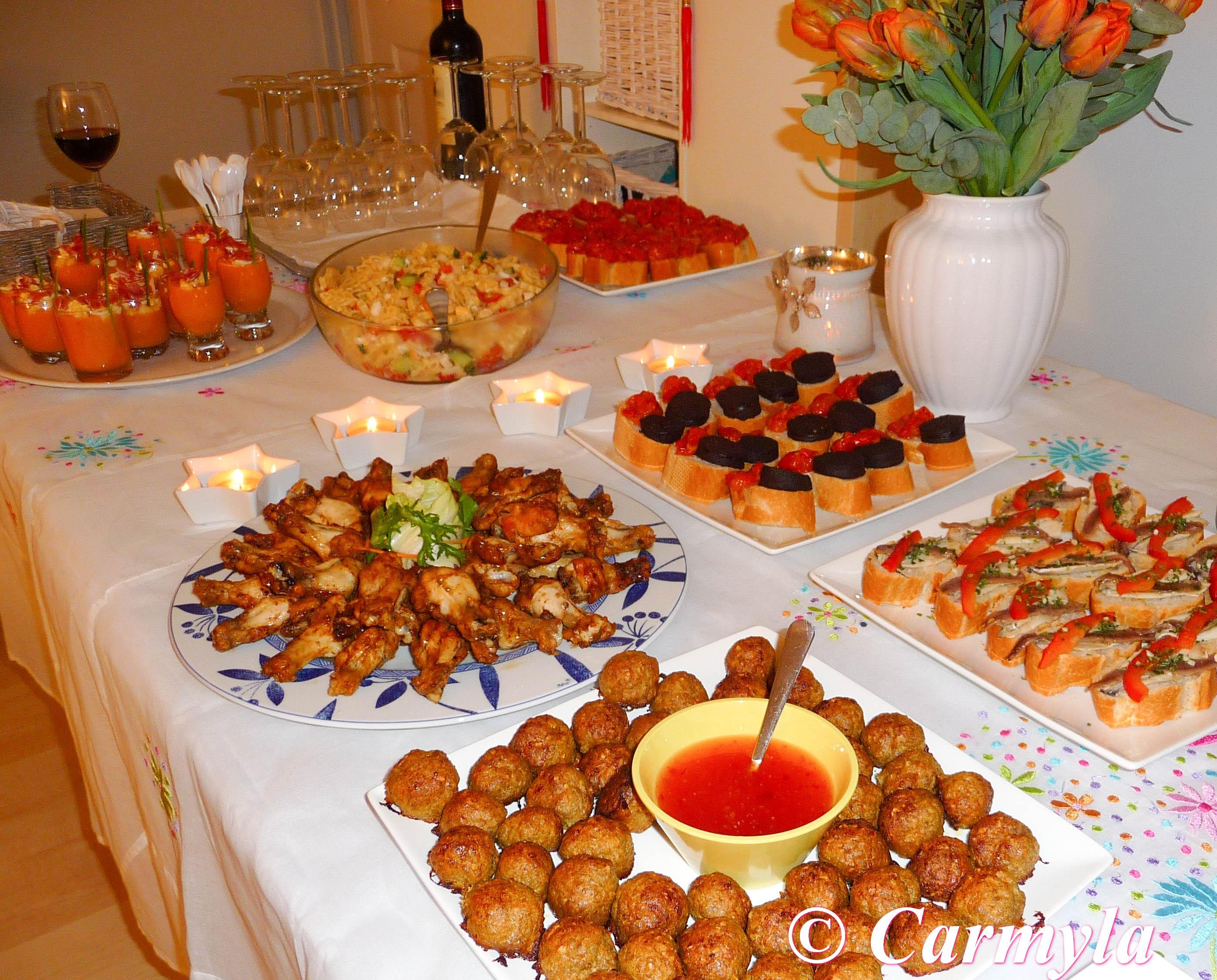 Buffet de tapas para cumplea os para 15 personas carmyla for Como secar frutas para decoracion