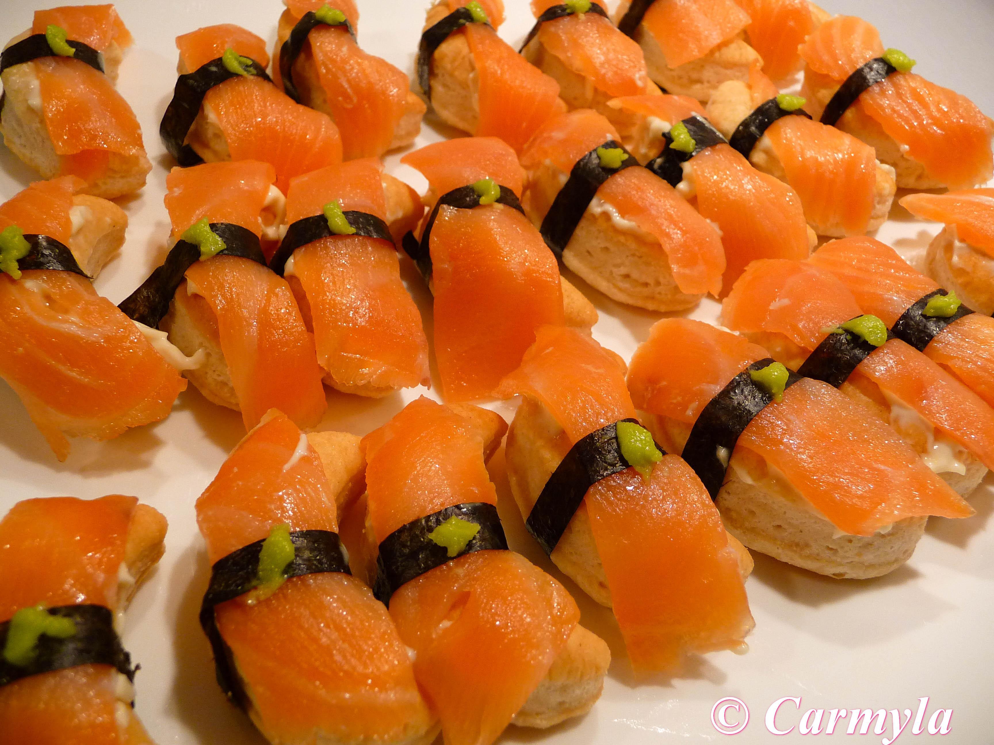 Tapa fria floron de salm n carmyla - Tapas con salmon ahumado ...