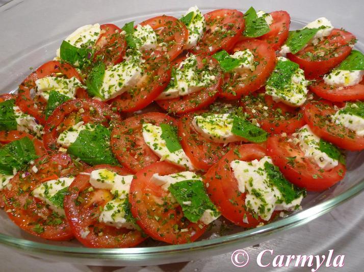 Ensalada caprese para buffet carmyla for Decoracion de ensaladas