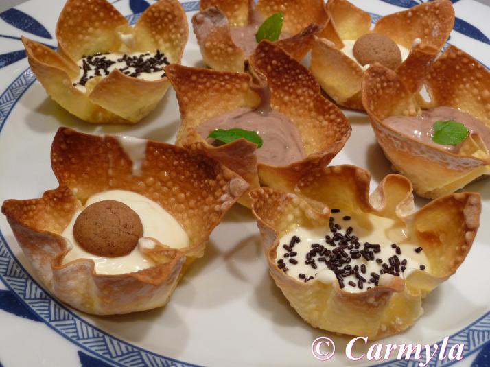 Cestitas dulces para buffet carmyla for Platos dulces