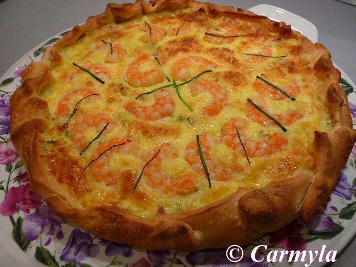 PIZZA DE BACON Y GAMBAS entera