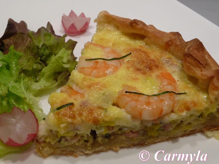 PIZZA DE BACON Y GAMBAS