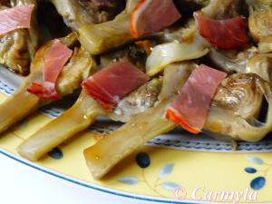 ALCACHOFAS CON LOMO DE CARMYLA  buffet 1