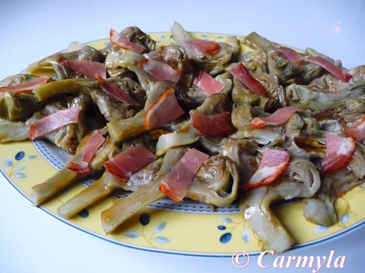 ALCACHOFAS CON LOMO DE CARMYLA  buffet