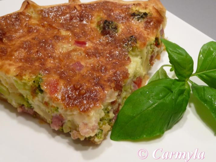 QUICHE DE BACON Y BROCOLI tapa 1