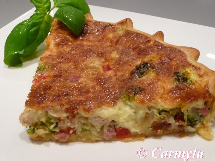 QUICHE DE BACON Y BROCOLI tapa