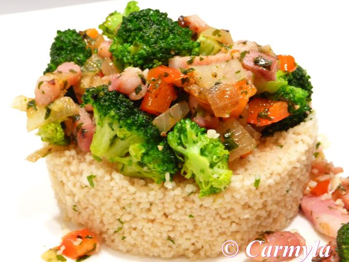 COUSCOUS CON BRÓCOLI Y BACON 1