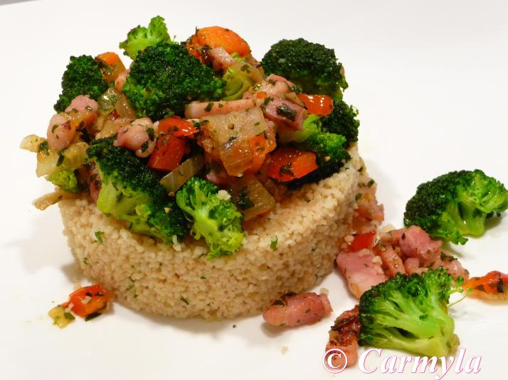 COUSCOUS CON BRÓCOLI Y BACON