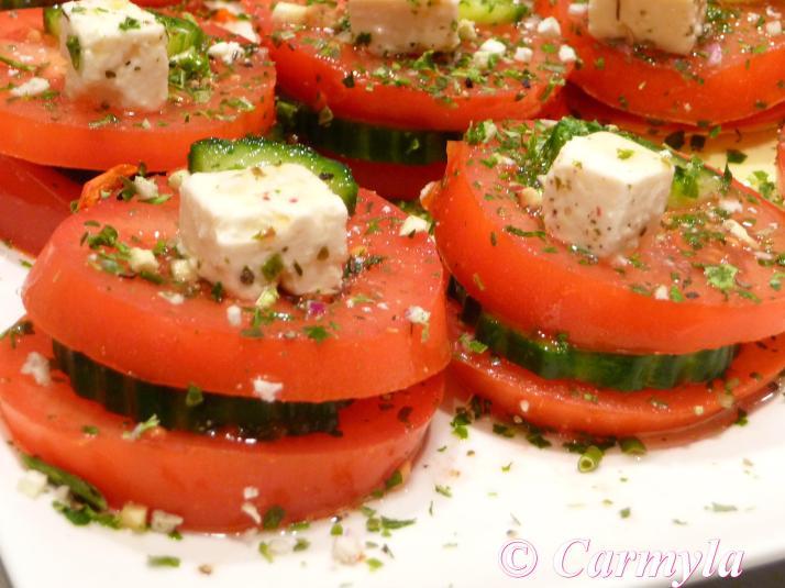 Ensalada de tomate carmyla for Tapas frias para fiestas