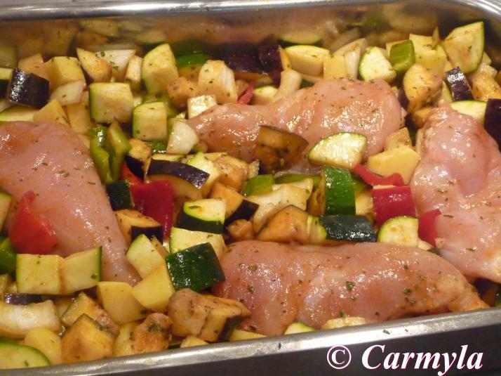 pollo al pimenton y el comino preparación